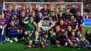 El Barça celebra la Copa del Rei / FCB