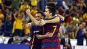 El Barça Lassa celebra un dels gols contra el Magna Gurpea / MIGUEL RUIZ - FCB