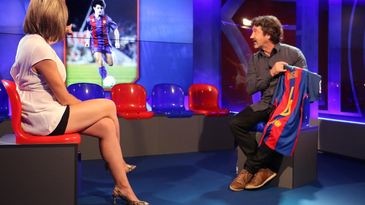 Joseo Mari Bakero speaking to the 'Hora B show on Barça TV / FCB